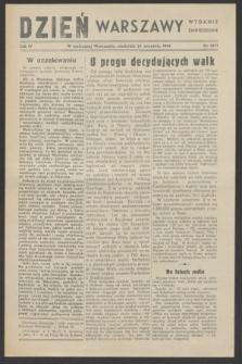 Dzień Warszawy : wydanie zmniejszone [Śródmieście-Południe]. R.4, nr 1071 (24 września 1944)
