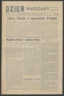 Dzień Warszawy : wydanie zmniejszone [Śródmieście-Południe]. R.4, nr 1075 (28 września 1944)