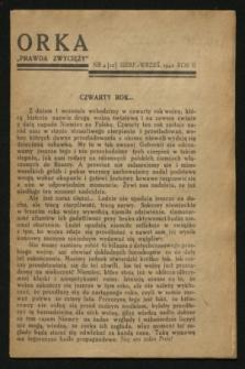 """Orka """"Prawda Zwycięży"""". [R.2], nr 4 ([12] sierpień 1942)"""