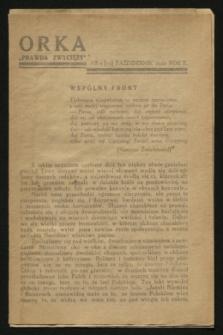 """Orka """"Prawda Zwycięży"""". [R.2], nr 5 ([13] październik 1942)"""