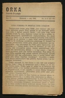 """Orka """"Prawda Zwycięży"""". R.4, nr 4/5 (kwiecień-maj 1944)"""
