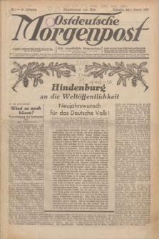 Ostdeutsche Morgenpost : erste oberschlesische Morgenzeitung. Jg.14, Nr. 1 (1 Januar 1932)