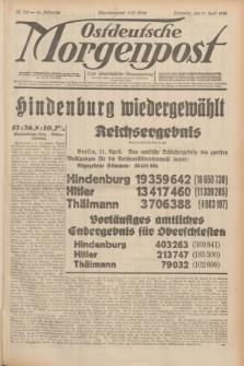 Ostdeutsche Morgenpost : erste oberschlesische Morgenzeitung. Jg.14, Nr. 100 (11 April 1932)