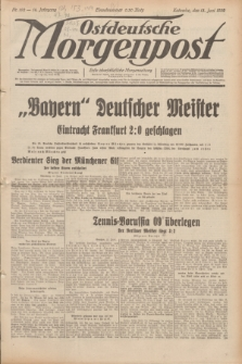 Ostdeutsche Morgenpost : erste oberschlesische Morgenzeitung. Jg.14, Nr. 162 (13 Juni 1932)