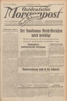 Ostdeutsche Morgenpost : erste oberschlesische Morgenzeitung. Jg.14, Nr. 217 (7 August 1932) + dod.