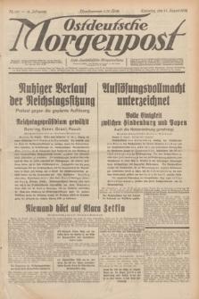 Ostdeutsche Morgenpost : erste oberschlesische Morgenzeitung. Jg.14, Nr. 241 (31 August 1932)