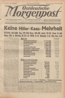 Ostdeutsche Morgenpost : erste oberschlesische Morgenzeitung. Jg.14, Nr. 309 (7 November 1932)