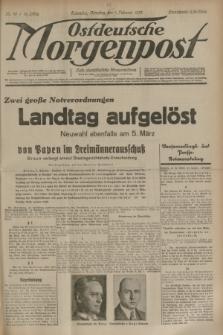 Ostdeutsche Morgenpost : erste oberschlesische Morgenzeitung. Jg.15, Nr. 38 (7 Februar 1933)