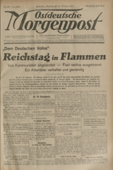 Ostdeutsche Morgenpost : erste oberschlesische Morgenzeitung. Jg.15, Nr. 59 (28 Februar 1933)