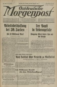 Ostdeutsche Morgenpost : Führende Wirtschaftszeitung. Jg.15, Nr. 233 (25 August 1933)