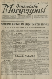 Ostdeutsche Morgenpost : Führende Wirtschaftszeitung. Jg.15, Nr. 236 (28 August 1933) + dod.