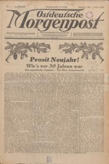Ostdeutsche Morgenpost : erste oberschlesische Morgenzeitung. Jg.12, Nr. 1 (1 Januar 1930)