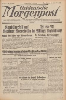 Ostdeutsche Morgenpost : erste oberschlesische Morgenzeitung. Jg.12, Nr. 263 (22 September 1930)