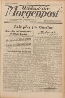 Ostdeutsche Morgenpost : erste oberschlesische Morgenzeitung. Jg.12, Nr. 353 (21 Dezember 1930) + dod.