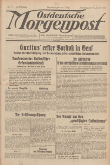 Ostdeutsche Morgenpost : erste oberschlesische Morgenzeitung. Jg.13, Nr. 17 (17 Januar 1931)