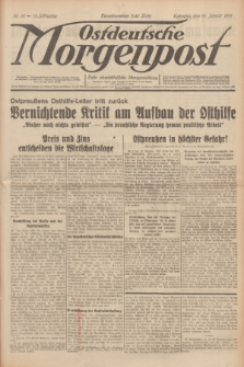 Ostdeutsche Morgenpost : erste oberschlesische Morgenzeitung. Jg.13, Nr. 18 (18 Januar 1931) + dod.