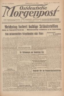 Ostdeutsche Morgenpost : erste oberschlesische Morgenzeitung. Jg.13, Nr. 44 (13 Februar 1931)