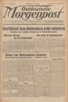Ostdeutsche Morgenpost : erste oberschlesische Morgenzeitung. Jg.13, Nr. 57 (26 Februar 1931)