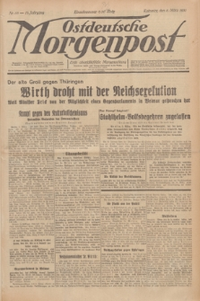 Ostdeutsche Morgenpost : erste oberschlesische Morgenzeitung. Jg.13, Nr. 65 (6 März 1931)