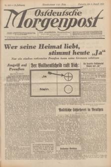 Ostdeutsche Morgenpost : erste oberschlesische Morgenzeitung. Jg.13, Nr. 218 (9 August 1931) + dod.
