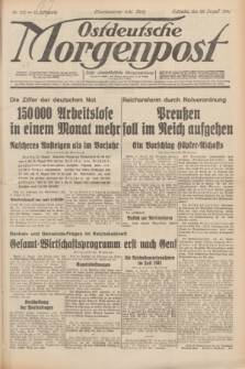 Ostdeutsche Morgenpost : erste oberschlesische Morgenzeitung. Jg.13, Nr. 231 (22 August 1931) + dod.