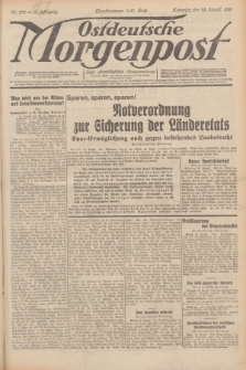 Ostdeutsche Morgenpost : erste oberschlesische Morgenzeitung. Jg.13, Nr. 232 (23 August 1931) + dod.