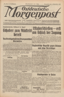 Ostdeutsche Morgenpost : erste oberschlesische Morgenzeitung. Jg.13, Nr. 245 (5 September 1931) + dod.