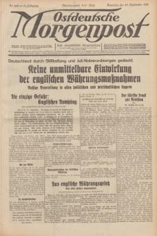 Ostdeutsche Morgenpost : erste oberschlesische Morgenzeitung. Jg.13, Nr. 262 (22 September 1931) + dod.