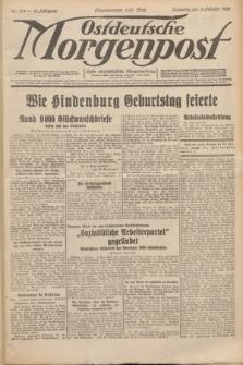 Ostdeutsche Morgenpost : erste oberschlesische Morgenzeitung. Jg.13, Nr. 273 (3 Oktober 1931)