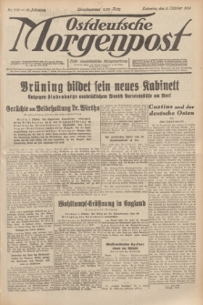 Ostdeutsche Morgenpost : erste oberschlesische Morgenzeitung. Jg.13, Nr. 278 (8 Oktober 1931)