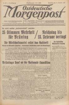Ostdeutsche Morgenpost : erste oberschlesische Morgenzeitung. Jg.13, Nr. 287 (17 Oktober 1931)