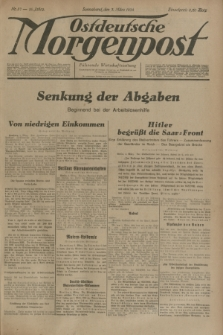 Ostdeutsche Morgenpost : Führende Wirtschaftszeitung. Jg.16, Nr. 57 (3 März 1934)