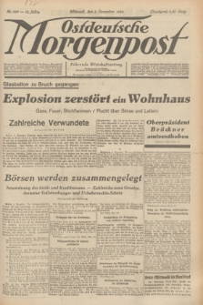 Ostdeutsche Morgenpost : Führende Wirtschaftszeitung. Jg.16, Nr. 332 (5 Dezember 1934)