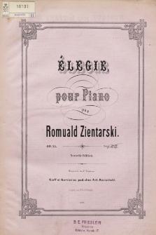 Élegie : pour piano : op. 25
