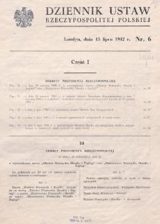 Dziennik Ustaw Rzeczypospolitej Polskiej. 1942, nr 6