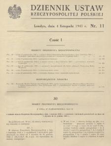 Dziennik Ustaw Rzeczypospolitej Polskiej. 1943, nr 11