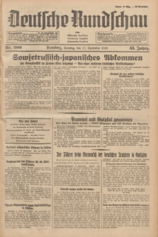 Deutsche Rundschau : früher Ostdeutsche Rundschau, Bromberger Tageblatt, Pommereller Tageblatt. Jg.63, Nr. 209 (17 September 1939) + dod.