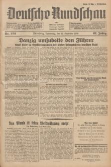 Deutsche Rundschau : früher Ostdeutsche Rundschau, Bromberger Tageblatt, Pommereller Tageblatt. Jg.63, Nr. 212 (21 September 1939) + dod.
