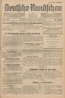 Deutsche Rundschau : früher Ostdeutsche Rundschau, Bromberger Tageblatt, Pommereller Tageblatt. Jg.63, Nr. 215 (24 September 1939) + dod.