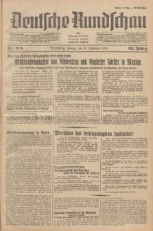 Deutsche Rundschau : früher Ostdeutsche Rundschau, Bromberger Tageblatt, Pommereller Tageblatt. Jg.63, Nr. 219 (29 September 1939) + dod.