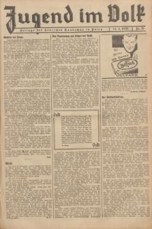 Jugend im Volk : Beilage der Deutschen Rundschau in Polen. 1935, Nr. 15 (14 April)