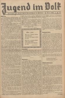 Jugend im Volk : Beilage der Deutschen Rundschau in Polen. 1935, Nr. 16 (21 April)