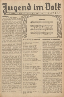 Jugend im Volk : Beilage der Deutschen Rundschau in Polen. 1935, Nr. 19 (12 Mai)