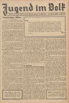 Jugend im Volk : Beilage der Deutschen Rundschau in Polen. 1935, Nr. 21 (26 Mai)