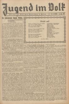 Jugend im Volk : Beilage der Deutschen Rundschau in Polen. 1935, Nr. 22 (2 Juni)