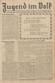 Jugend im Volk : Beilage der Deutschen Rundschau in Polen. 1935, Nr. 28 (14 Juli)