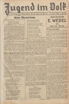 Jugend im Volk : Beilage der Deutschen Rundschau in Polen. 1935, Nr. 39 (29 September)