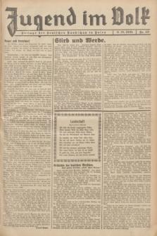 Jugend im Volk : Beilage der Deutschen Rundschau in Polen. 1935, Nr. 40 (6 Oktober)