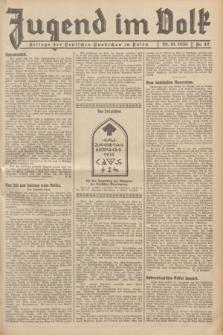 Jugend im Volk : Beilage der Deutschen Rundschau in Polen. 1935, Nr. 42 (20 Oktober)