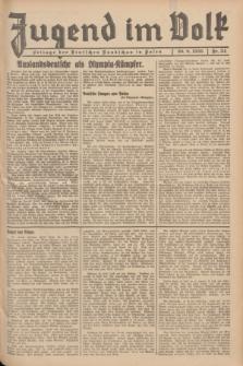 Jugend im Volk : Beilage der Deutschen Rundschau in Polen. 1936, Nr. 34 (30 August)